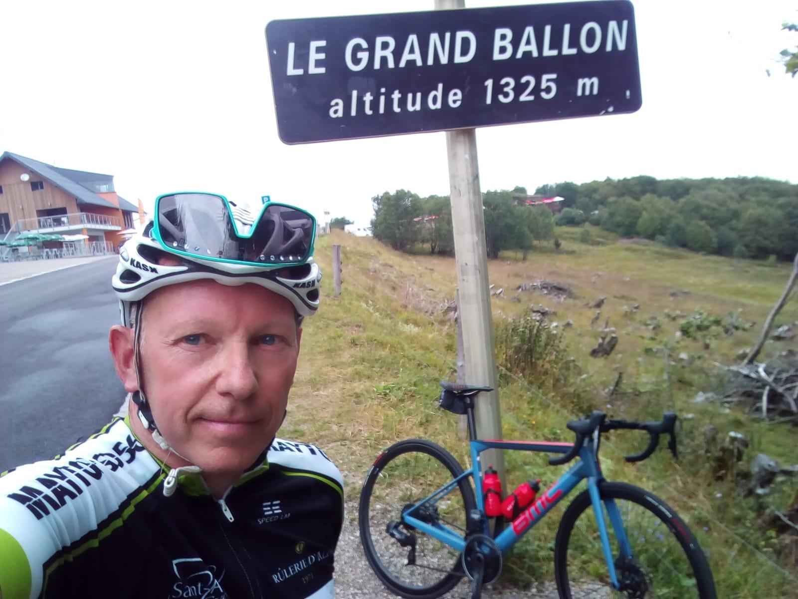 Marc en vacances au Grand Ballon altitude 1325m